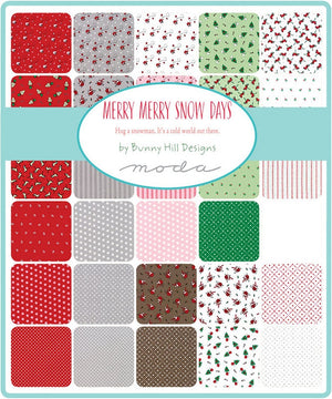 "Merry Merry Snow Days Quilt Kit, 65"" x 68"", by Bunny Hill Designs for Moda Fabrics, Kit2940"
