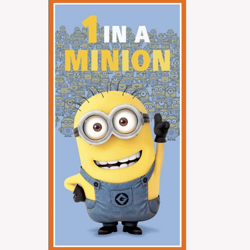 """Despicable Me 1 in a Minion 24"""" panel by Quilting"""