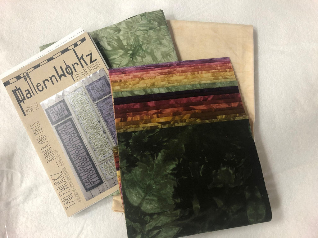 Tableworkz Table runner and 6 Placemat kit, Hand-Dyed Batiks by Starr Designs