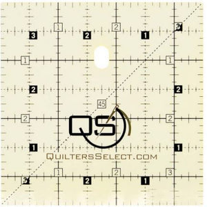 "Quilters Select 'non slip'  Ruler measures  3.5"" x 3.5"""