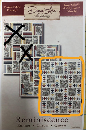 "Reminiscence Flying Geese Throw quilt kit, Moda Fabrics by Doug Leko, measures 61"" x 81"""