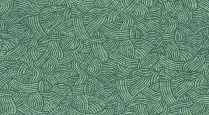 "Green Seafoam Waves 108"" Flannel by Blank Quilting, BTR6649"