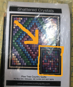 "Shattered Crystals Wall Quilt Kit, Northcott Fabrics, measures 36"" x 45"""