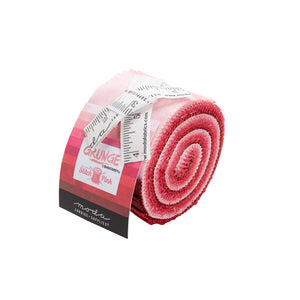"Stitch Pink Grunge Junior Jelly Roll (2.5"" strips, 10pcs), Moda,  30150JJRSP"