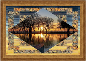 "Sunrise & Sunset quilt kit featuring The View from Here Collection from Northcott measures 50"" x 36"""