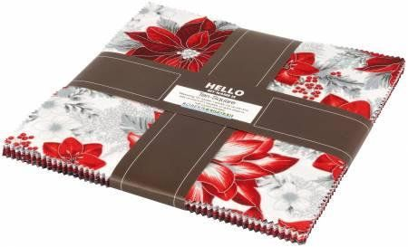 Holiday Flourish 11 - Silver Metallic Colorstory Ten Squares/Layer Cake by Robert Kaufman, Ten-607-42