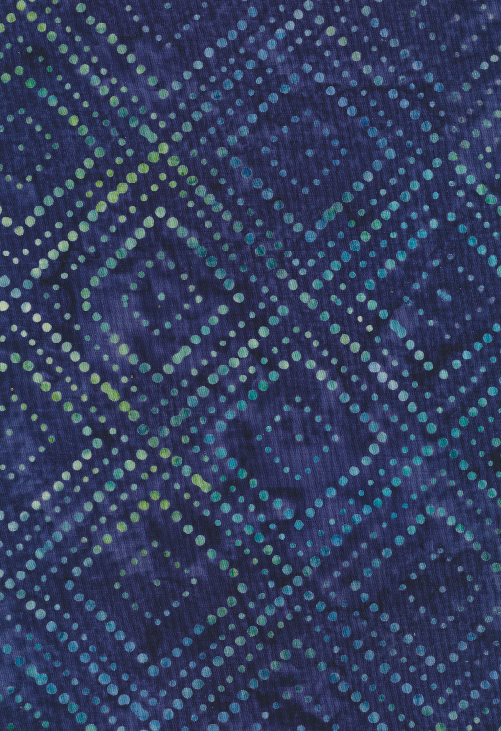"Blue Squares on Point 44"" Batik by Majestic Batik, Twilight 511"