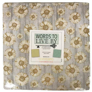 Words to Live By Layer Cake - Contempo Fabrics by Cherry Guidry