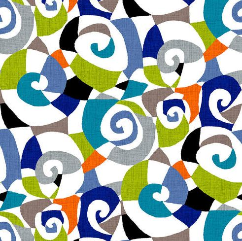"Multi-color abstract circles 108"" fabric by Studio-E, 5018-01, Sonia"