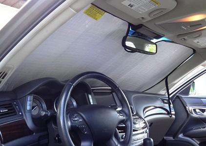Custom-fit Windshield Sun Shade Autotech Park Front Windshield Sunshade Compatible with 2012-2016 Honda CRV CR-V
