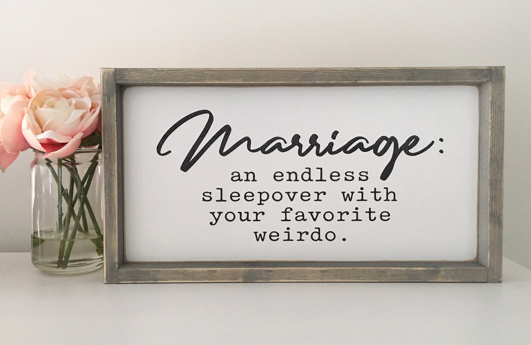 Marriage Wood Sign