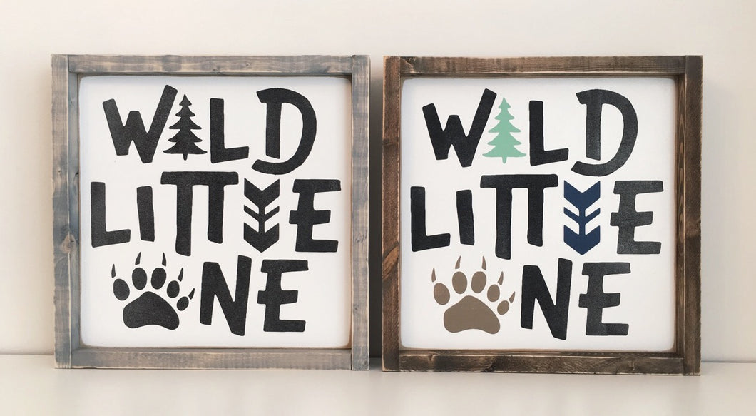 Wild Little One Wood Sign