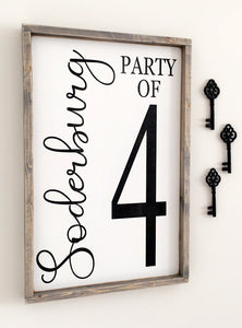 Customizable Family Party Of Wood Sign