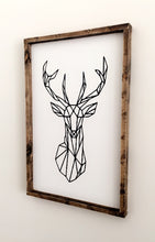 Load image into Gallery viewer, Geometric Deer Wood Sign