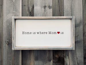 Home is where Mom is - Wood Sign