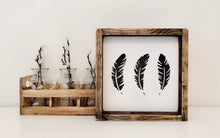 Load image into Gallery viewer, Feathers (small) - Wood Sign
