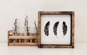 Feathers (small) - Wood Sign