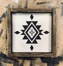 Load image into Gallery viewer, Boho Aztec Compass - Wood Sign