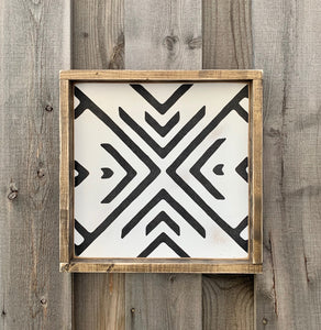 Boho Aztec Tantru Design - Wood Sign