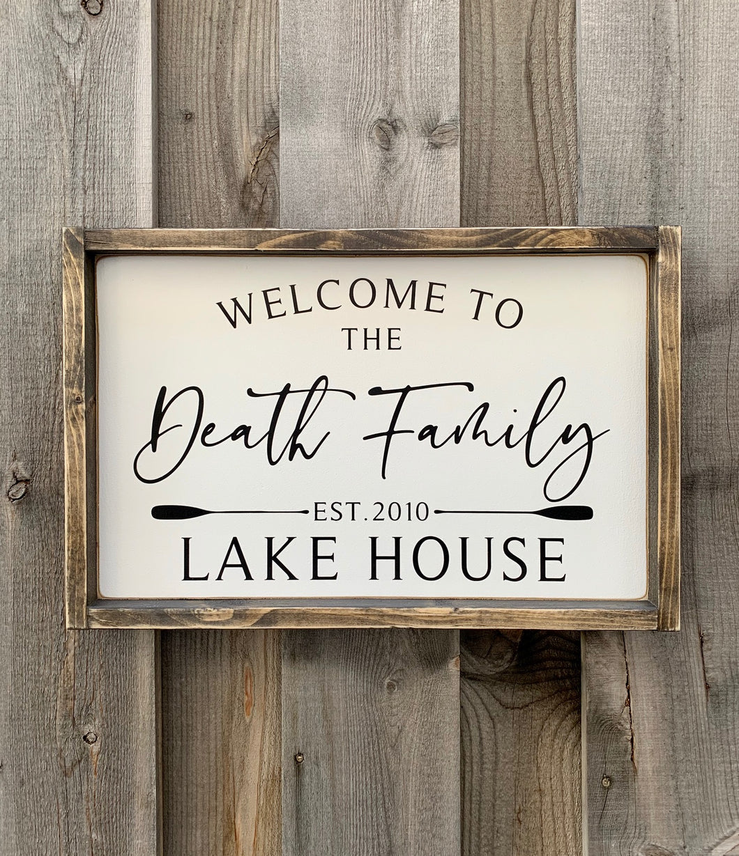 Lake House Family Wood Sign
