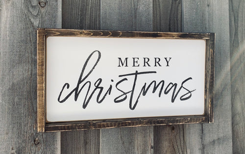 Merry Christmas Mini Wood Sign