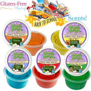 BACK TO SCHOOL SCENTS 5-Pack Playdough (Gluten-Free)