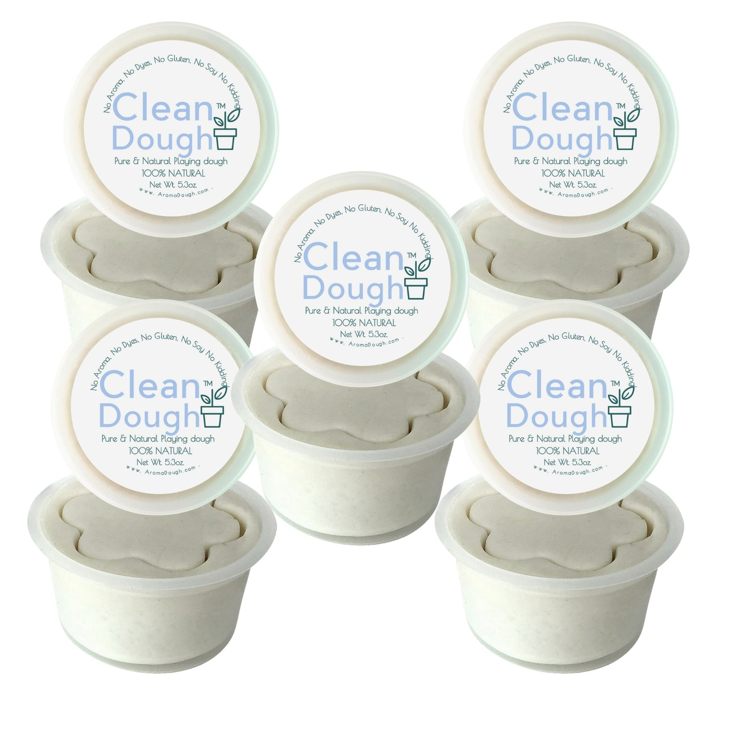 Clean Dough® 5 Pack (PLANT BASED NATURAL COLORS)