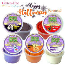 Load image into Gallery viewer, HALLOWEEN SCENTS 5-Pack Playdough (Gluten-Free)  (LIMITED EDITION)