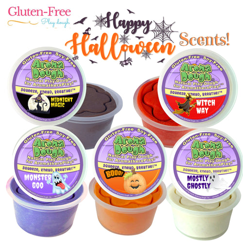 HALLOWEEN SCENTS 5-Pack Playdough (Gluten-Free)  (LIMITED EDITION)