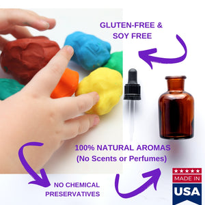 Gluten Free Modeling Playdough Clay 4 lb Natural Scents