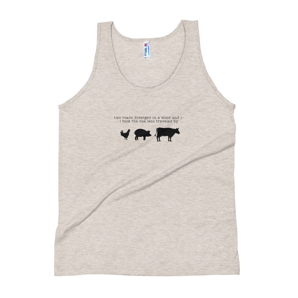 Two Roads Diverged Unisex Tank Top