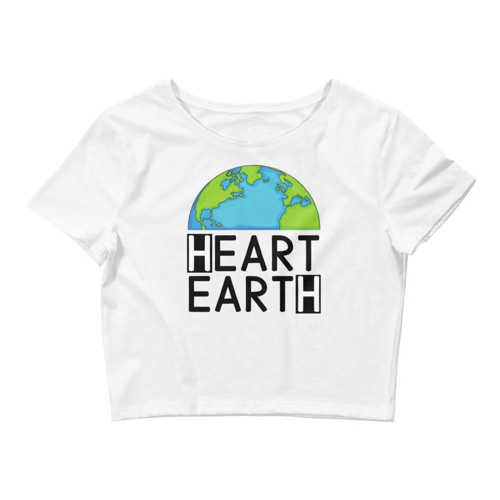 Heart Earth Women's Crop Tee