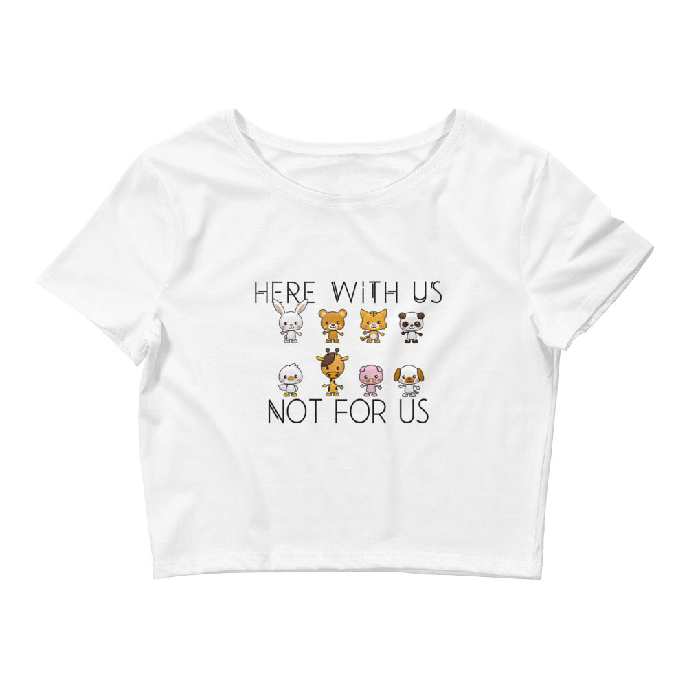 Here With Us Women's Crop Tee