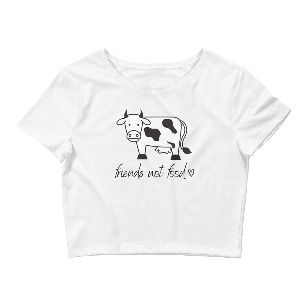 Friends Not Food Women's Crop Tee