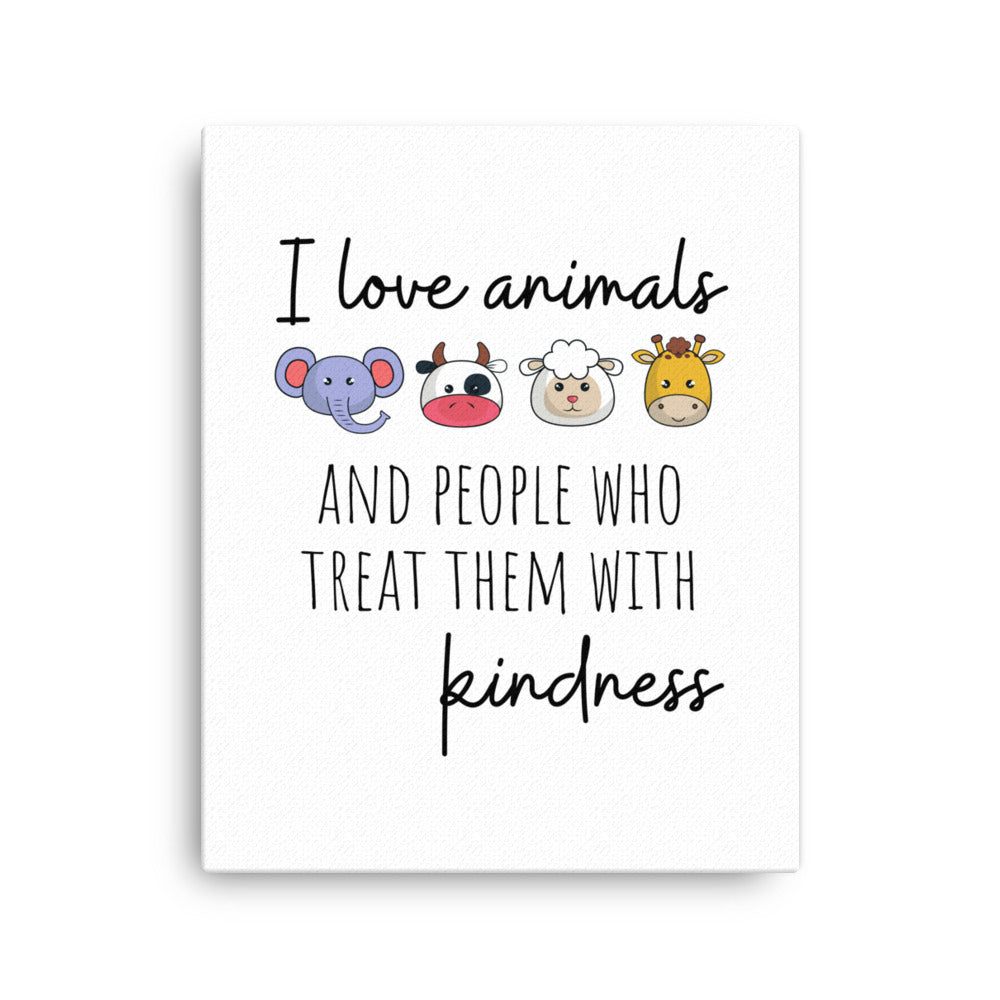 I Love Animals Canvas