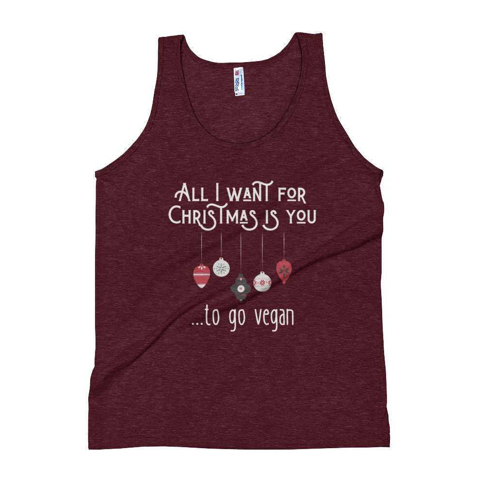 All I Want for Christmas Unisex Tank Top