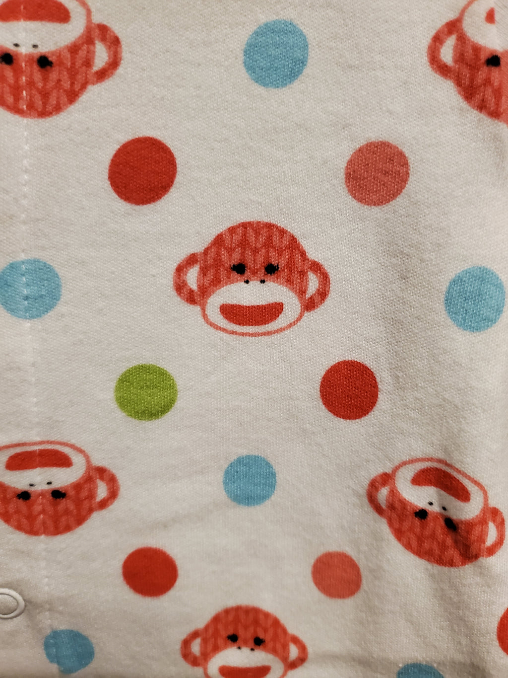 Sock Monkey Footed Pajamas