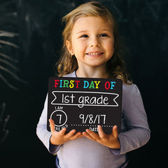 First & Last Day Chalk Sign