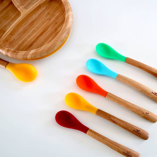 Bamboo & Silicone Infant Spoons
