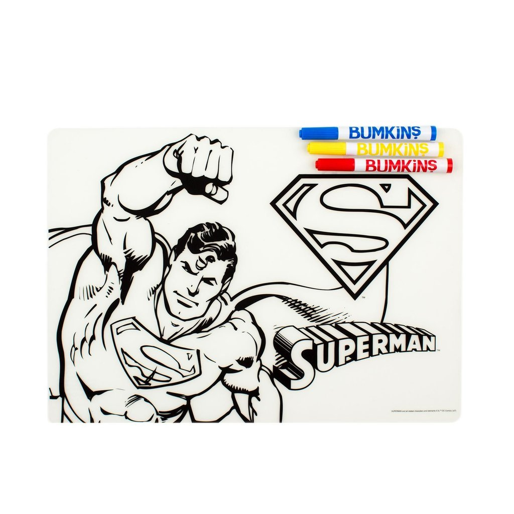 DC Comics Silicone Coloring Placemat - Superman