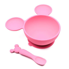 Disney Silicone Suction First Feeding Set - Minnie Mouse