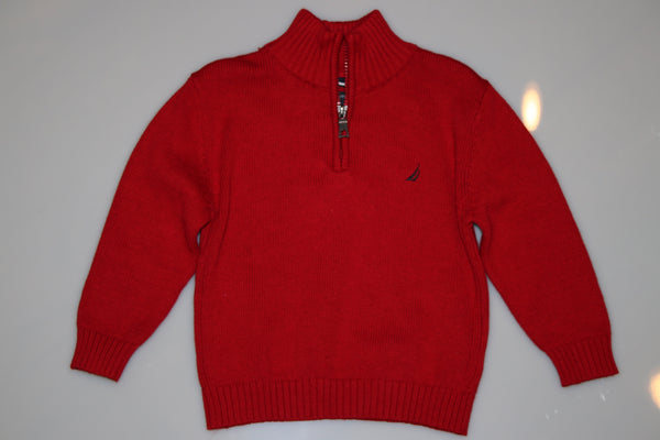 Zippered Pullover Sweater - Kiwi'z Klozet