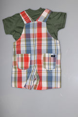 2pc Short Sleeve Shirt/Overall Set
