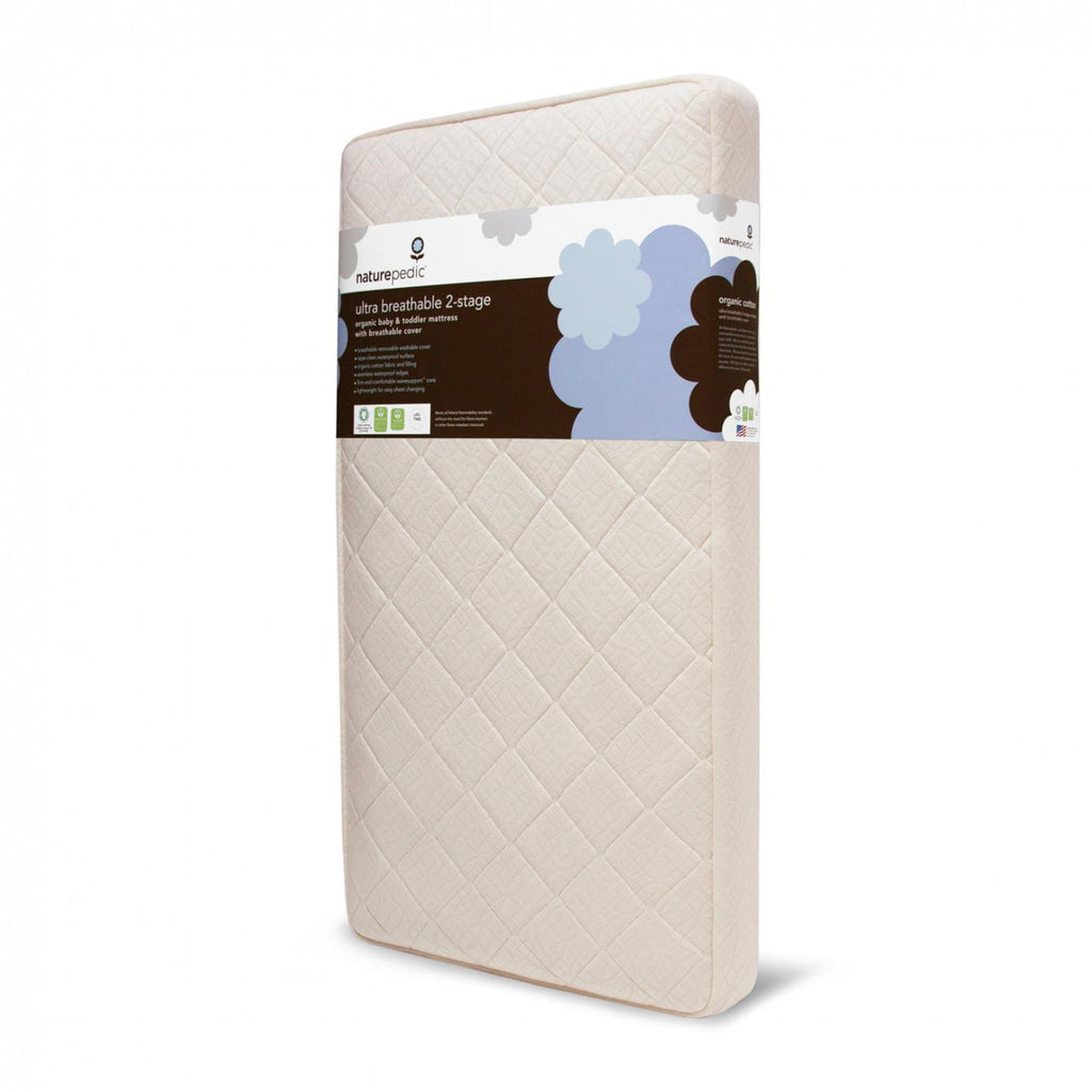 Organic 2-Stage Organic Baby & Toddler Mattress with Ultra Breathable Pad