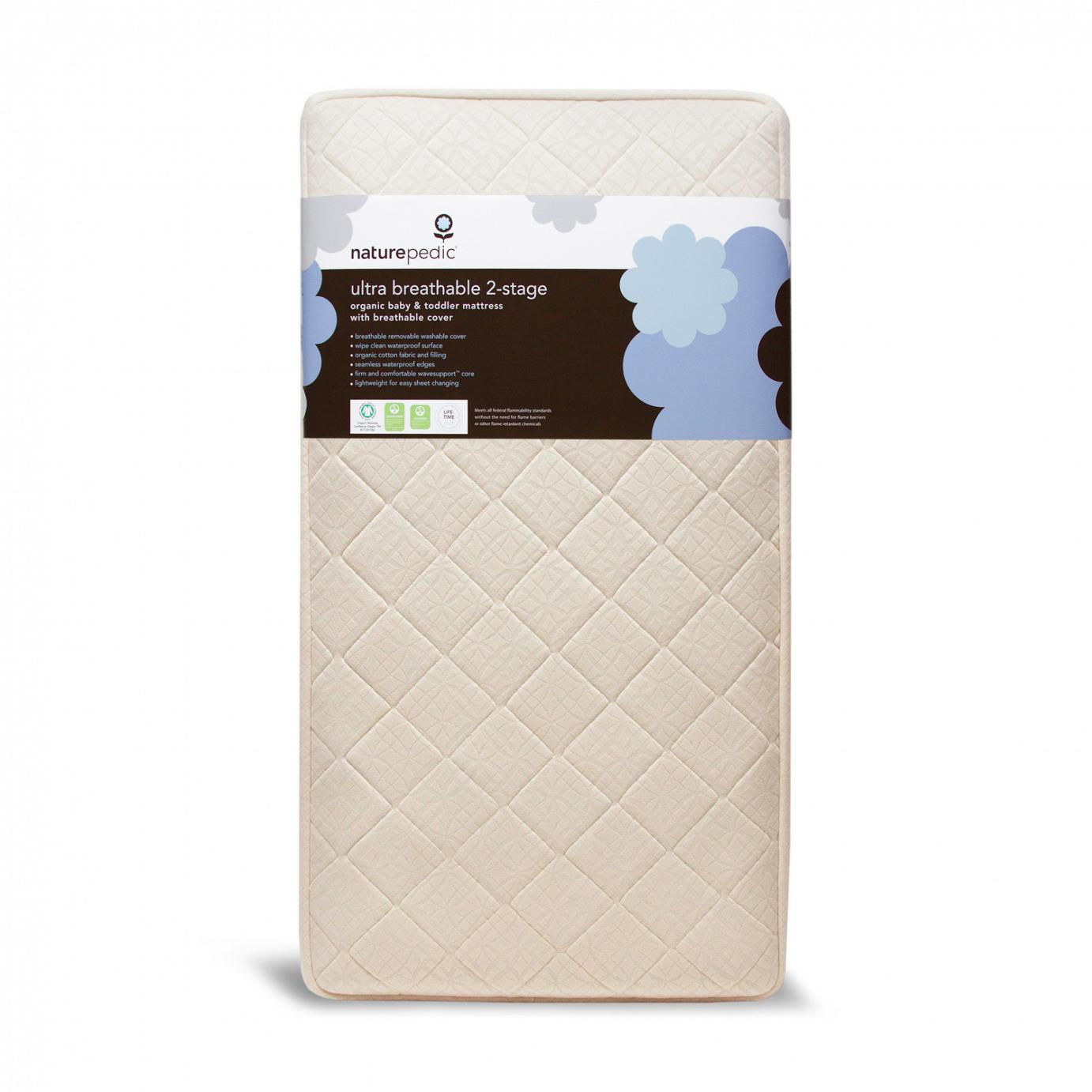 Organic 2 Stage Organic Baby Toddler Mattress With Ultra Breathable Kiwi Z Klozet
