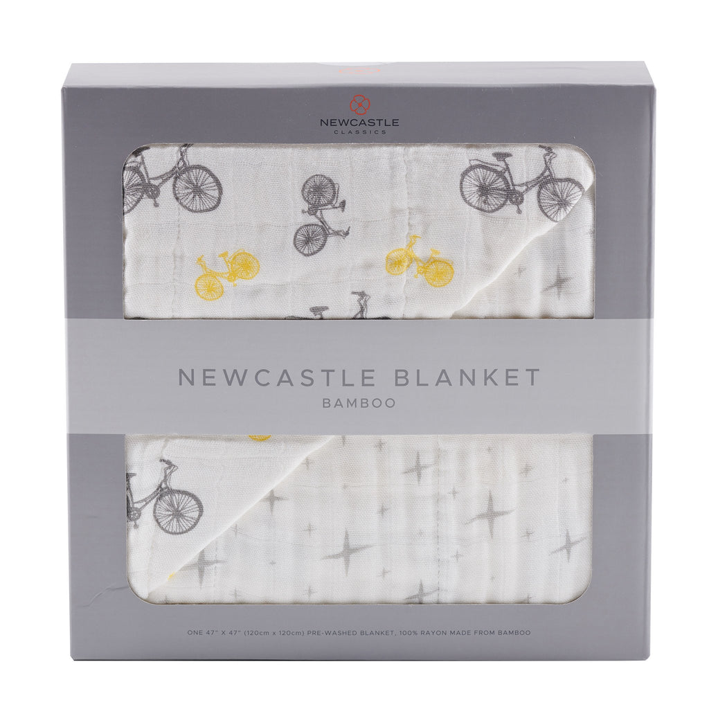 Vintage Bicycle and North Star Blanket