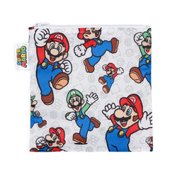 Nintendo Reusable Snack Bag, Large: Super Mario & Luigi