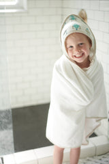 Robot Hooded Towel & Washcloth Set