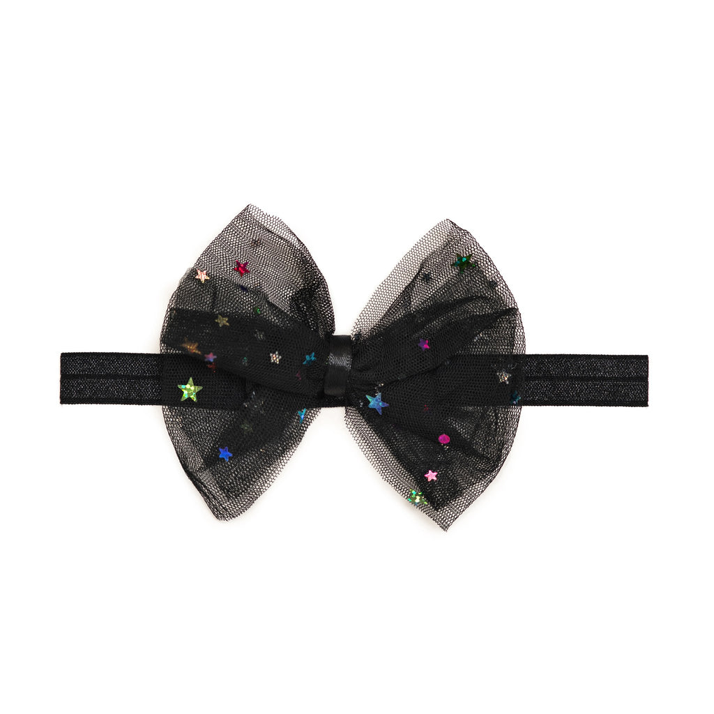 Starry Night Bow Soft Headband