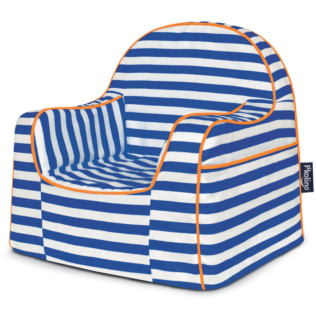 Little Reader Toddler Chair - Stripes Blue